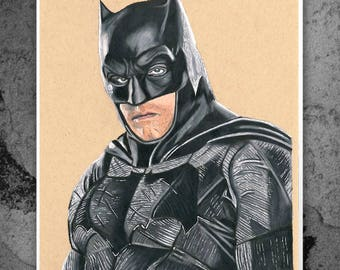 Batman - Ben Affleck - Original Drawing
