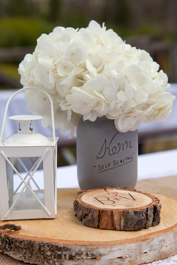 Rustic Woodsy Wedding Table Decoration Wood Cookie Slices Etsy