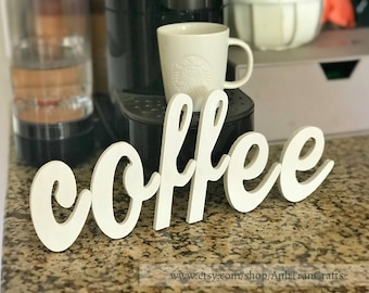 Exceptionnel Coffee Sign, Kitchen Decor, Rustic Coffee Decor, Kitchen Coffee Sign, Wood  Coffee Sign, Home And Living, Housewarming Gift, Coffee Lover