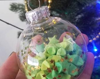 Green Lucky Stars Ornament