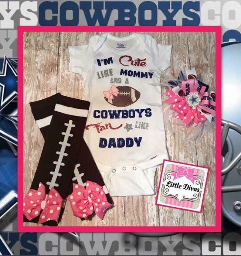 de2ec7a90 Dallas Cowboys baby girl Dallas Cowboys onsies Dallas | Etsy