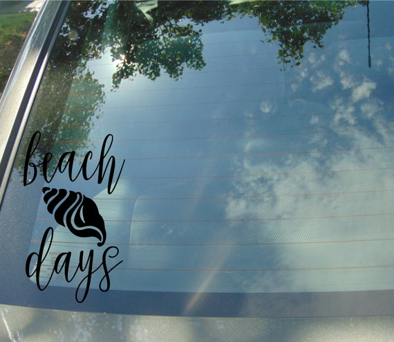 DECAL {Beach days} Beach Decal | Ocean Decal | Vinyl Decal | Car Window  Decal | Laptop Decal | Water Bottle Decal | Phone Decal
