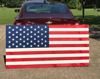 American Flag Wood Sign,Large American Flag, Patriotic, Wood Signs,American Flag