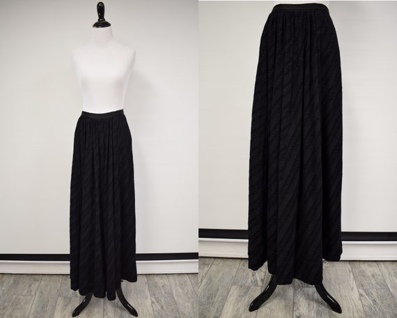 1910s Edwardian Wool Matelassé Walking Skirt // An