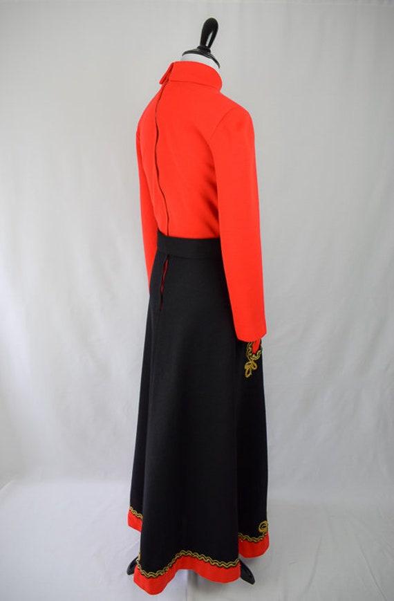 1960s Embroidered Folk Maxi Dress // 60s Bohemian… - image 5
