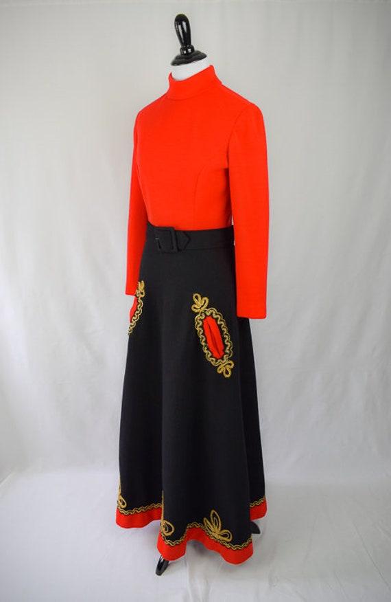 1960s Embroidered Folk Maxi Dress // 60s Bohemian… - image 3