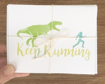 Fitness inspired greeting cards by helloandhighfive on etsy running bundle hello and high five greeting cards for runners running sport athlete fitness trail running blank inside m4hsunfo