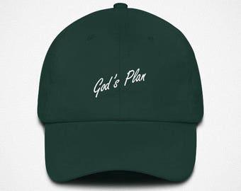 7c32c6602d9 God s Plan - Embroidered Dad Hat
