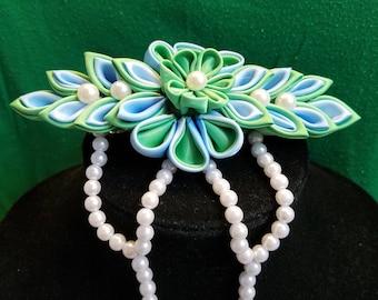 multi-colored hair clip, hair accesory