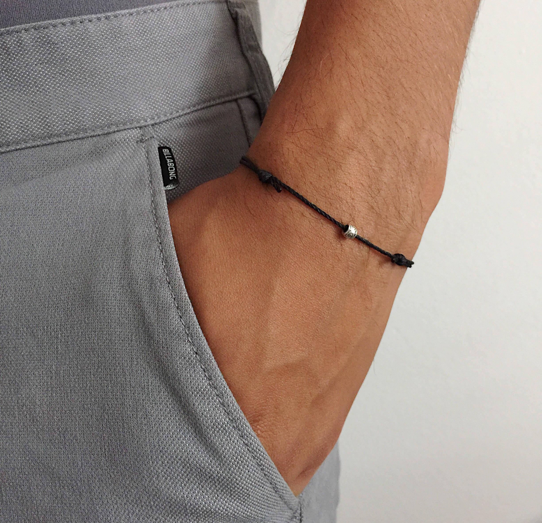 vegane armband schlichtes armband f r m nner d nnes. Black Bedroom Furniture Sets. Home Design Ideas