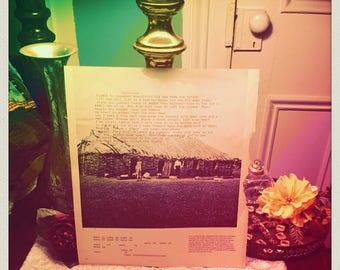 Original Poem handtyped on book page