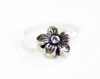 Flower toe ring, Stretch toe rings, Elastic ring, Invisible toe ring, Summer foot jewelry, Gifts for women, Teen girls, Beach jewelry