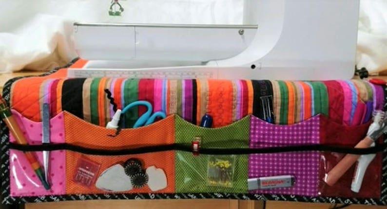 Sewing Machine Cozy Organizer Mat and Thread Catcher Duo