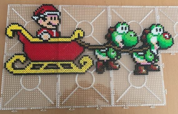 Perler Bead Patterns Christmas.Christmas Mario Bros And Yoshi Cross Stitch Pattern Perler Bead Pattern