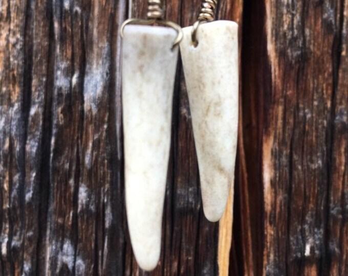 Simple Antler Tip Earrings // Handmade in Wyoming