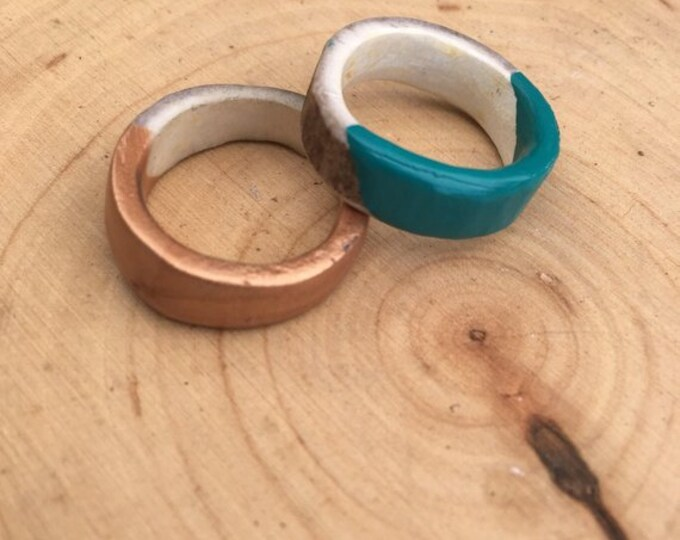 Handpainted Antler Shed Ring // Handmade in Wyoming