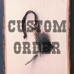 Custom Order // Antler + Feather + Turquoise Rear Mirror Hang // Made in Wyoming