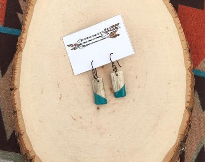 Handpainted Antler Shed Earrings // Handmade in Wyoming