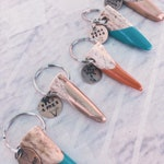 Handpainted Antler Shed Keychain // Handmade in Wyoming   Available in Turquoise, Cayenne, Bronze, Silver, & Copper