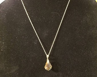 Swarovski Topaz Pendant Necklace