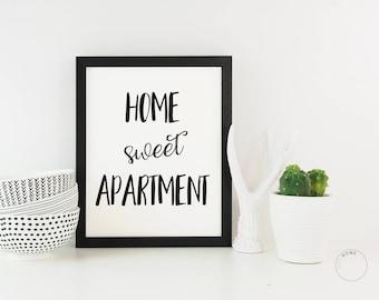 Home Sweet Apartment | Apartment Decor | New Apartment Gift | Apartment Poster| Apartment Art | Home Wall Decor | New Apartment Print