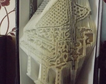 Grand Piano Filigree Style Book folding pattern