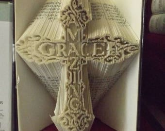 Amazing Grace Cross Book Folding Pattern