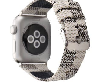 Leather Apple Watch band, 42mm, 38mm, Leather watch band, Apple watch strap, iwatch band, Apple watch leather band, white iwatch strap