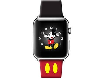 Apple Watch Case, 42mm, 38mm, Leather watch band, Apple watch Cover, iwatch band Apple watch leather band, Mickey Ears iwatch strap