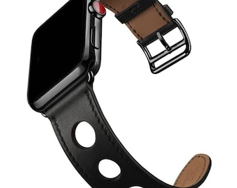Leather Apple Watch band, 42mm, 38mm, Leather watch band, Apple watch strap, iwatch band, Apple watch leather band, black iwatch strap