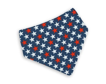 Stars Bandana/ Dog Bandana/Snap on Bandana/Tie on Bandana/D-ring Bandana
