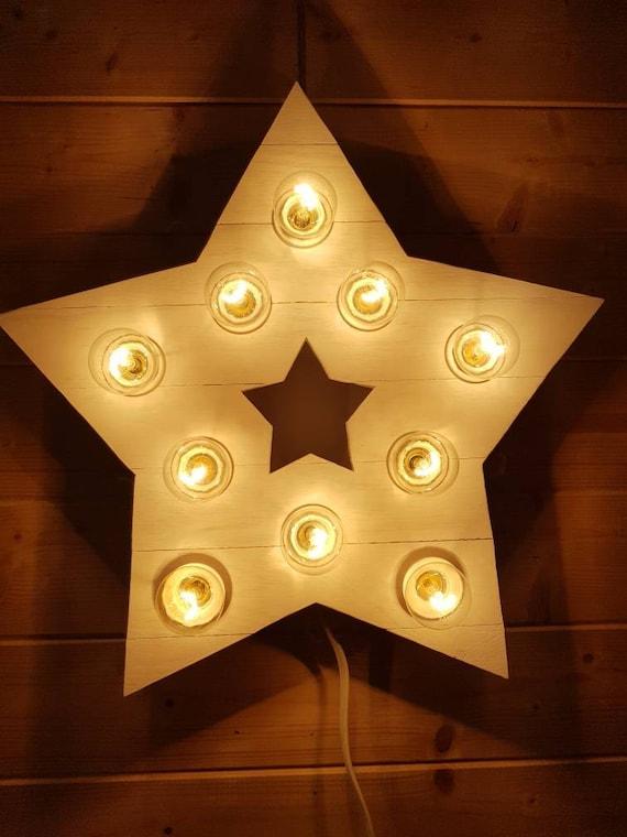 Holz Stern Lampe Kinderzimmer Schlafzimmer Licht skandinavischen Lampe  Nachtlicht Loft Lampe