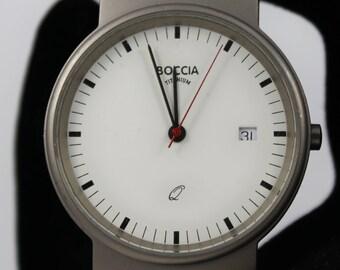 BOCCIA Men's All Titanium Watch is Water Resistant to 5 BAR