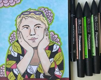 A4 Custom Commission Portrait (Busts)