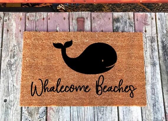 Merveilleux Whalecome Beaches Welcome Doormat Coastal Decor Beach | Etsy