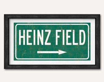 dd9c5d5335a Pittsburgh Steelers Print, Heinz Field Poster, Highway Sign Print, Football  Poster, Fan Gift for boys, Man Cave Signs Gift, Gift For Him
