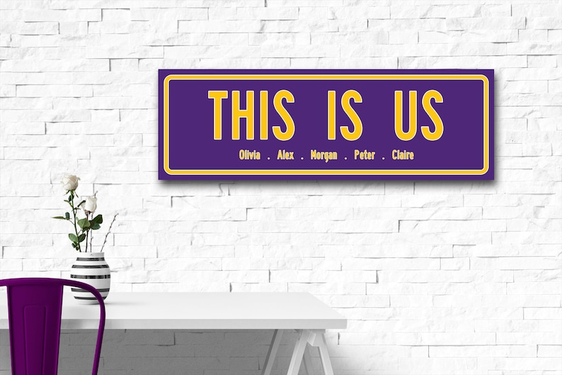 hot sale online cba7a fe8b3 This Is Us Canvas Wrap Minnesota Vikings Fan Gift, Housewarming Gift Family  Name Sign Wedding Personalized