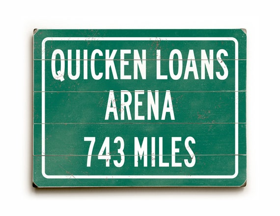 Quicken Loans Arena Sign Cleveland Cavaliers Personalized Etsy
