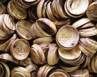 Deformed Olive Wood Mini Bowls