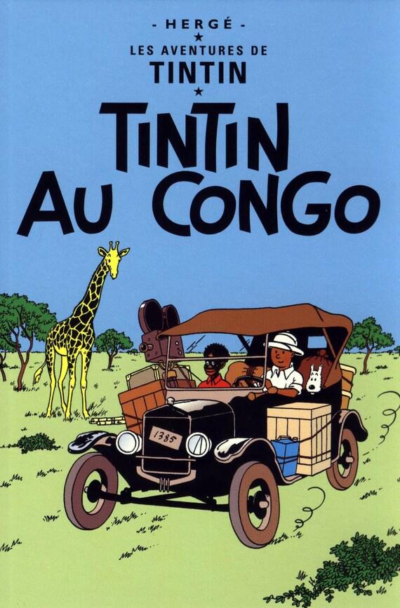 Land Of Black Gold Tintin Poster Print Framed