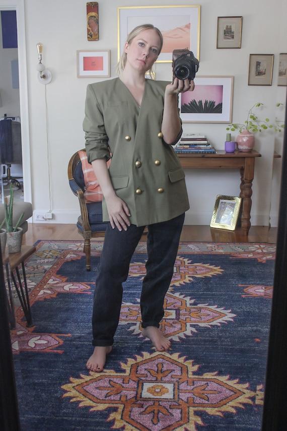 Khaki Blazer / Vintage Khaki Blazer / Vintage Blaz