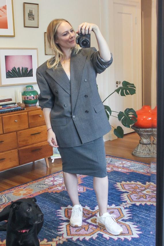 Grey Blazer / Oversize Blazer / Vintage Blazer / V