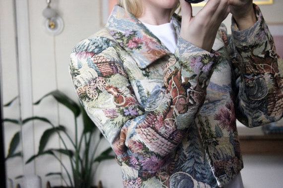 Tapestry Jacket / Cropped Tapestry Jacket / Horse