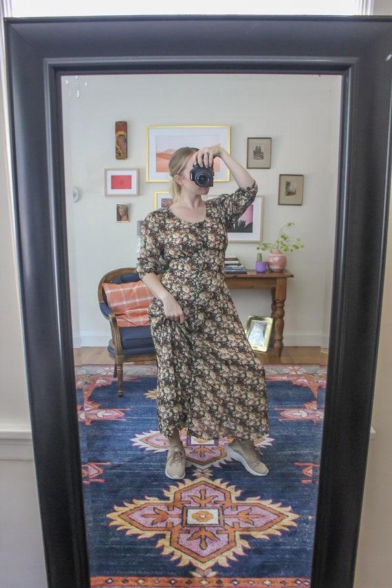 Vintage Floral Dress / Vintage Floral Maxi Dress /