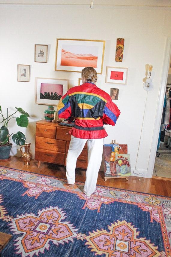 1980s Red Leather Jacket / 80s Red Leather Jacket… - image 2