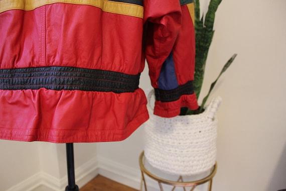 1980s Red Leather Jacket / 80s Red Leather Jacket… - image 7