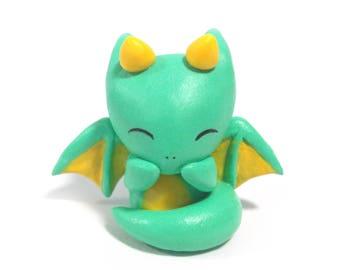 clay dragon cute purple mini sculpture etsy