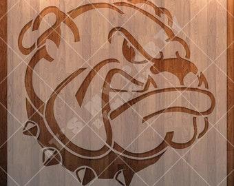 Bulldog Stencil, Animal Stencil, Dog Stencil,  Mascot, Durable, Reusable.