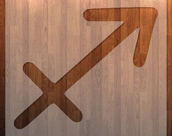 Sagittarius, Zodiac Sign, Stencil, Durable, Reusable.
