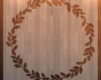 Leaf Border, Wreath, Frame, Stencil  Durable, Reusable